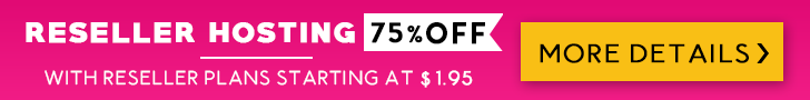 Reseller Hosting - 75% OFF!